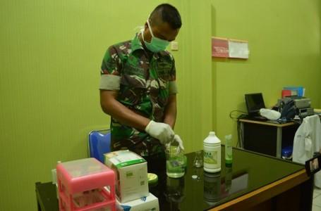 Klinik Pratama Yonarhanud 15 DBY Siapkan Cairan Antiseptik