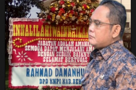 "Satu Tahun Bupati Bekasi, Ketua KNPI Ucapkan ""Inalilahi"""
