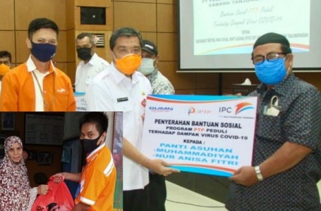 PTP Multipurpose Tanjung Pandan Bagikan 300 Paket Sembako