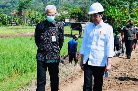 Presiden Jokowi Tinjau Proyek Padat Karya di Batang