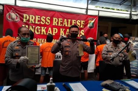 Polrestro Bekasi Ringkus Pelaku Pengeroyokan di Warung Remang-Remang
