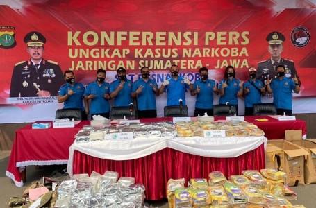 Polres Metro Jaksel Bekuk Jaringan Narkoba Lintas Sumatera-Jawa