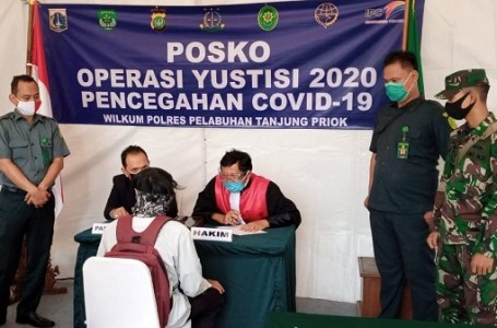 PN Jakut Gelar Sidang Yustisi Pelanggar Penerapan PSBB