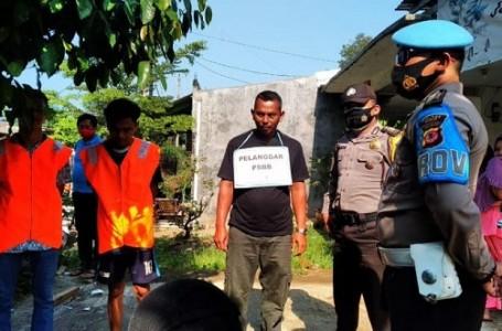 Anggota Polsek Parung Gelar Operasi Yustisi Protokol Kesehatan
