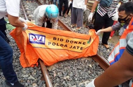 Petani Tewas Tertabrak Kereta Api Barang di Tanjung Brebes