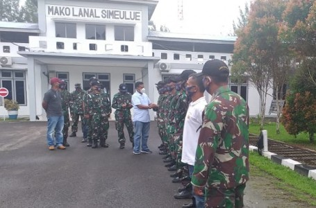 Pelepasan Komandan Lanal Simeulue Aceh Letkol Dian Wahyudi Ari