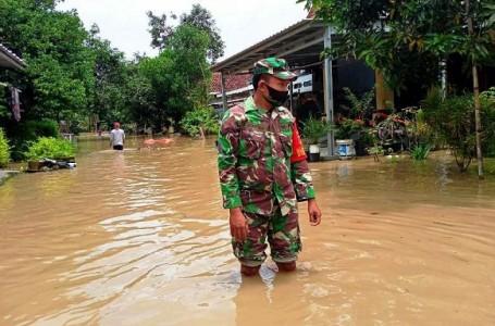 Wilayah Bojong Jatibarang Brebes Banjir Limpasan Kali Pemali