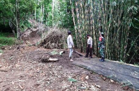 Tanah Bergerak Kembali Terjadi di Wilayah Sirampog Brebes