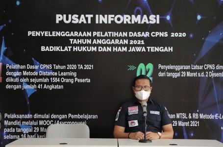 Badiklat Hukum dan HAM Jateng Gelar Pelatihan Dasar Untuk 1.584 CPNS