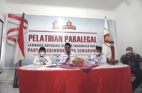 Partai Gerindra Kota Semarang Gelar Pelatihan ParalegalAdvokasi