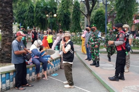 Alun-Alun Kabupaten Lamongan Kembali Disasar Satgas Covid