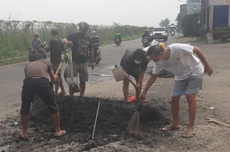 DPU Tangsel Bantah Kerjakan Hotmix di Jalan Pondok Cabe Raya