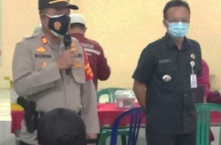 Camat Cabang Bungin Bekasi Monitoring Vaksin Merdeka di Gor Sindang Jaya