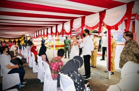 Panglima TNIDampingi Presiden Jokowi Resmikan Proyek Strategis